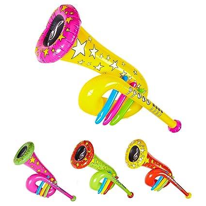 Amazon.com: 63 cm novedad hinchable payaso Tuba: Musical ...