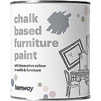 Hemway Skiffergrå krita baserade möbler färg matt finish vägg och uppgradering gör-det-själv heminredning 1 L / 34 oz…