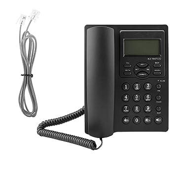 Garsent Schnurgebundes Telefon Schwarz Gro/ßtastentelefon mit Anrufe Display f/ür B/üro Zuhause