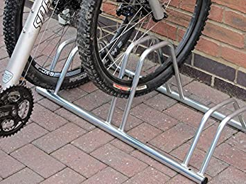 c8ea366d46c 3 Section Dual Height Flat Top Jumbo sized Cycle Rack/Bike Stand by Bison  Products