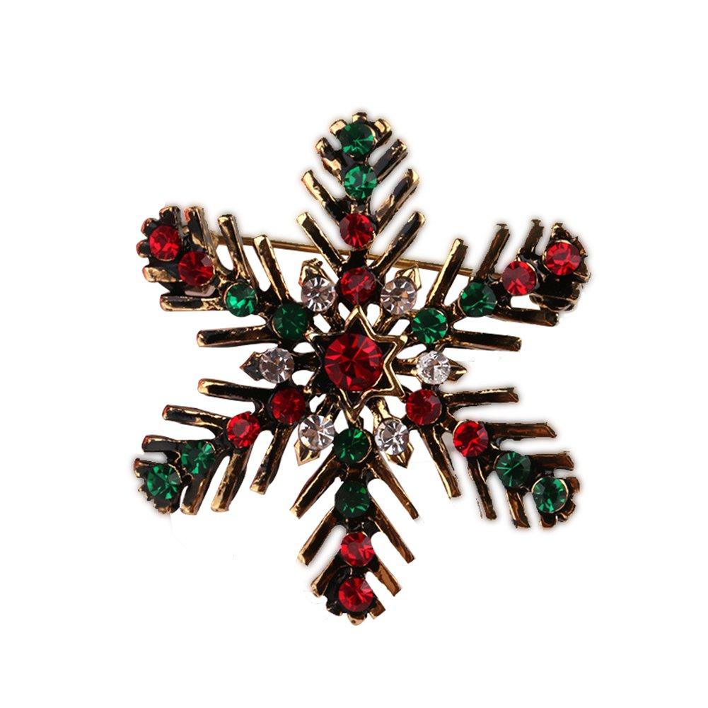 lumanuby 1PCS Weihnachten Geschenk Brosche Elegant Fashion Brosche Weihnachten snowfake Design für Hochzeit Legierung Schal Clip Lover Geschenk