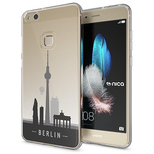7 opinioni per Huawei P10 Lite Cover Custodia Protezione di NICA, Silicone Trasparente Sottile