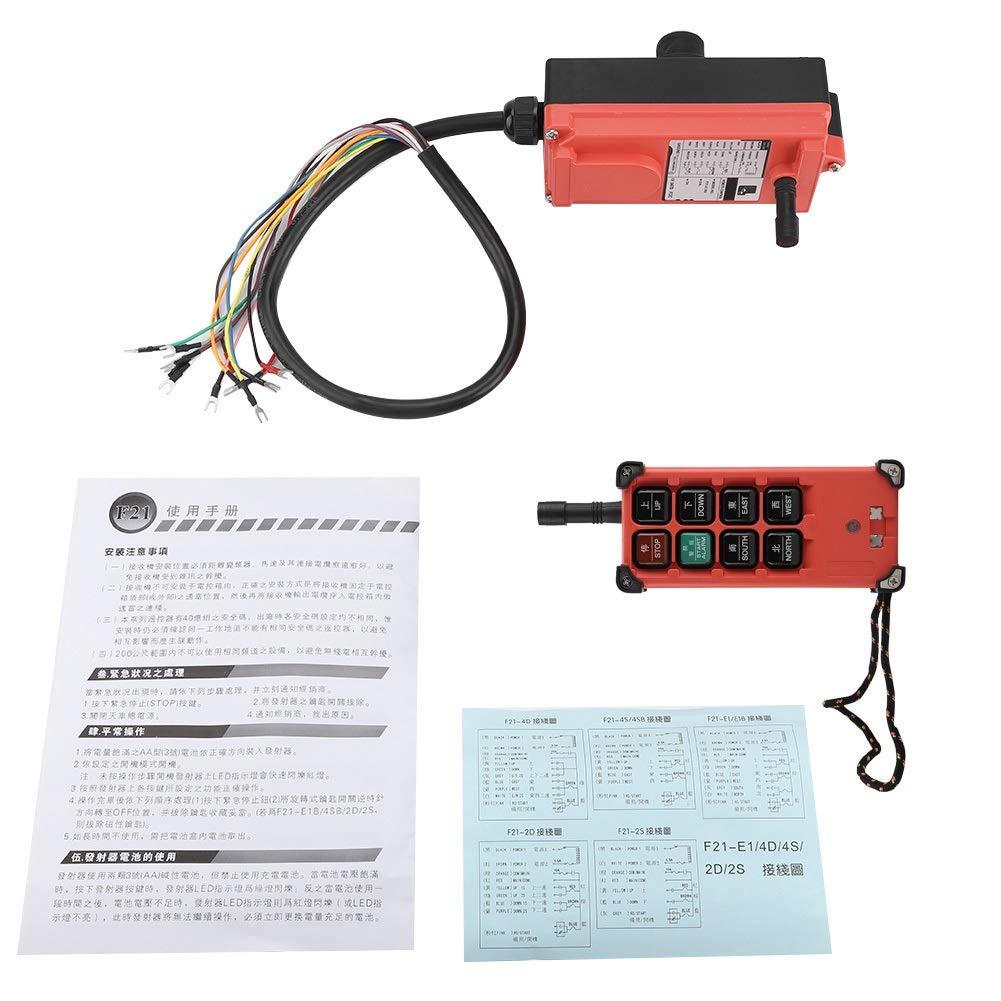 Maxmartt 24v 8Key Heavy Duty Crane Industrial Wireless Remote Control Transmitter Kit For Crane, Red by Maxmartt