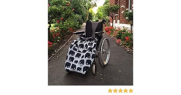 BundleBean - Cosy - Saco impermeable para sillas de ruedas - Para adultos - Con forro polar - Universal Fácil de ajustar. Viene en una bolsa compacta para ...