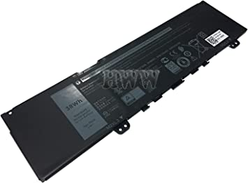 Tinkerpal F62G0 11.4V 38Wh//3166mAh Replacement Laptop Battery for Dell Inspiron 13 5370 7370 7373 7380 7386 Vostro 13-5370-D1505G Series Notebook F62GO RPJC3 39DY5 3-Cell 12-Month Warranty