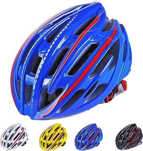 Casco Ciclismo con luz trasera LED,Unisexo Casco Bicicleta Montaña ...