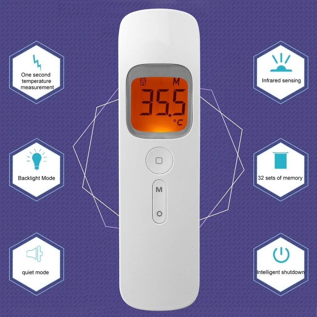 Indoor And Outdoor Use Infrared Thermometer,Accurate Instant Readings Thermometer,No Contact Digital Professional Thermometer,With HD Large Display Screen