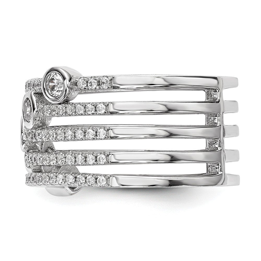 Sterling Silver Cubic Zirconia Ring Fine Jewelry Ideal Gifts For Women