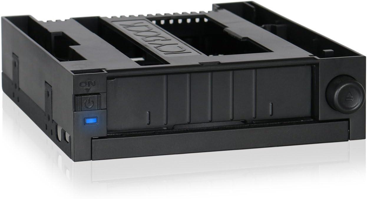 "Tool-Less 3.5"" SATA HDD Mobile Rack and Ultra-Slim 9.5mm ODD Bay for External 5.25"" Bay - DuoSwap MB971SPO-B… (3.5"" HDD + ODD)"
