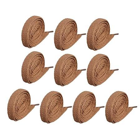 Da.Wa 10x Cordones Cordones marrón Claro 5 par Corbata Cordones de ...