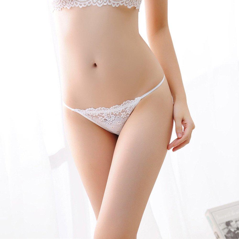Ropa interior las señoras tangas tangas sexy señoras ropa interior sexy para mujer Blanco One size
