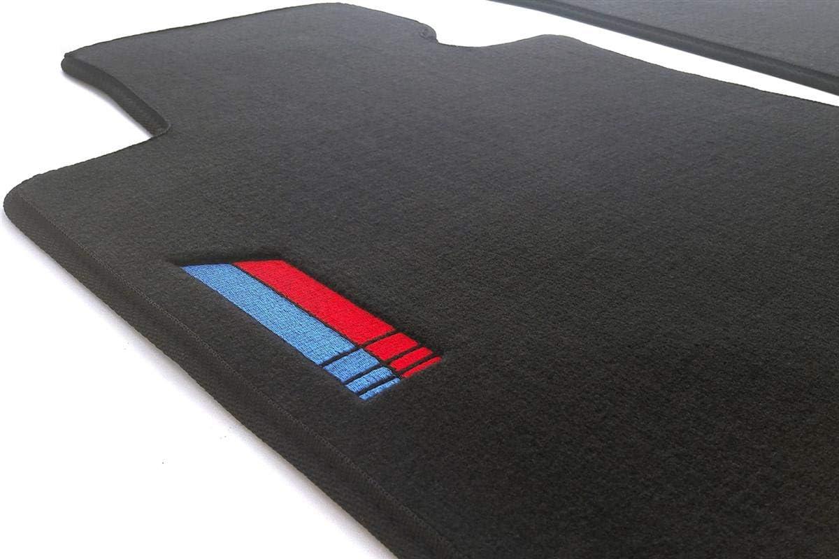 Kh Teile Fußmatten E90 E91 M3 Edition Bestickung Velours Automatte Original Qualität 2 Teilig Schwarz Auto