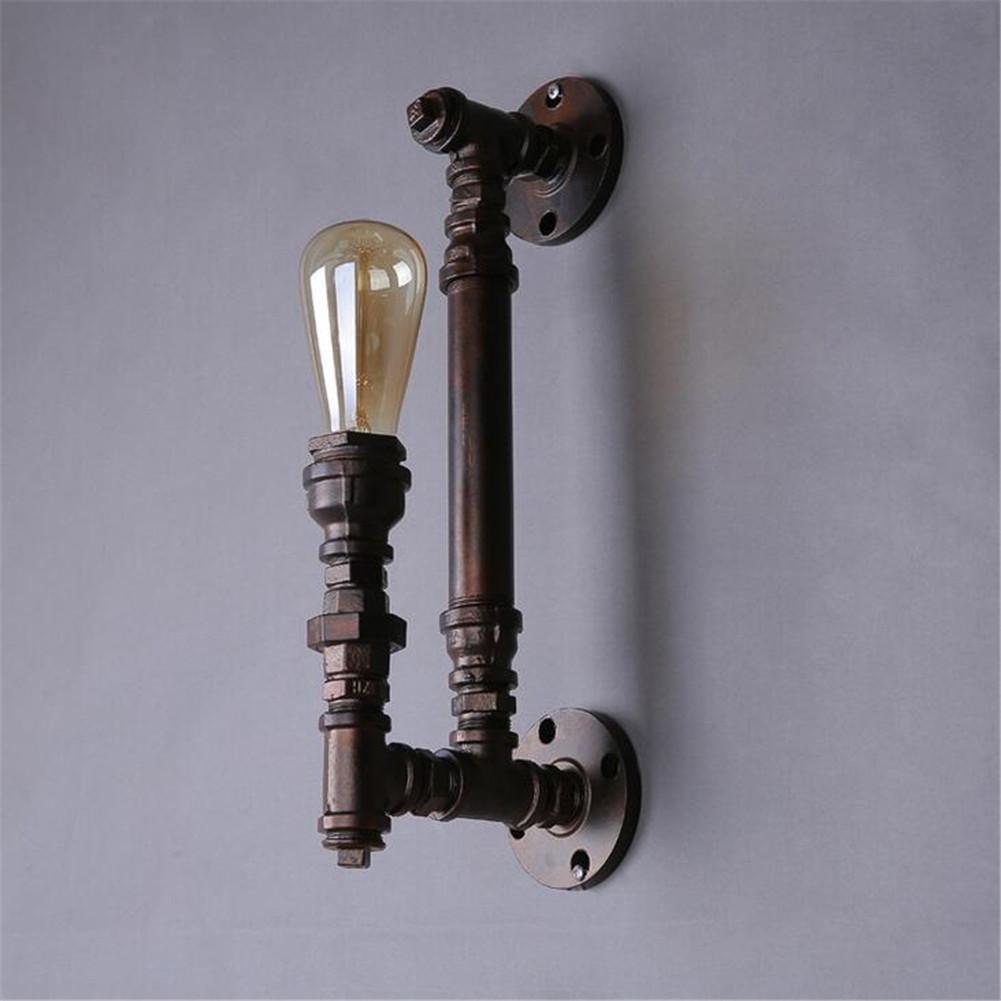 JIAJU5 Retro Industrial de Tuber¨ªas de Agua de luz Individualidad Creativa Barra de Hierro l¨¢mpara de Pared (Este Producto No Proporcionar Bombilla)