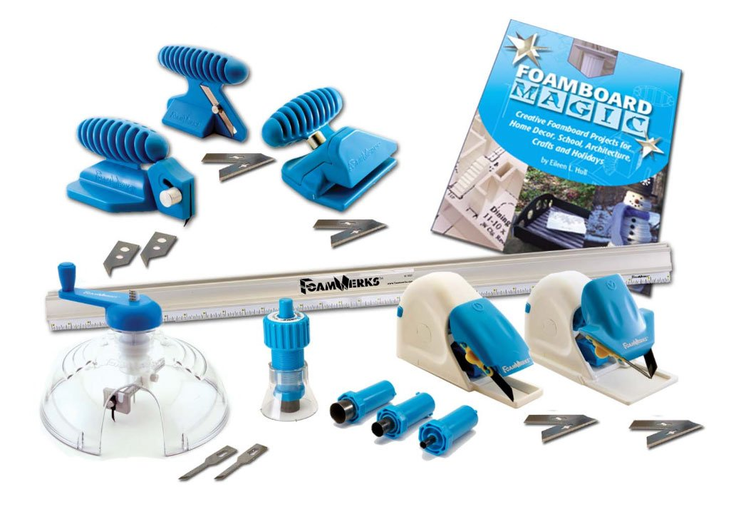 Logan Graphics Foamwerks Deluxe Cutting Kit for Foam Board for Creative Use In Art, Scrapbooking, Arcitecture, Modeling, Hobby and Craft Applications LOGAN GRAPHIC PRODUCTS W1002