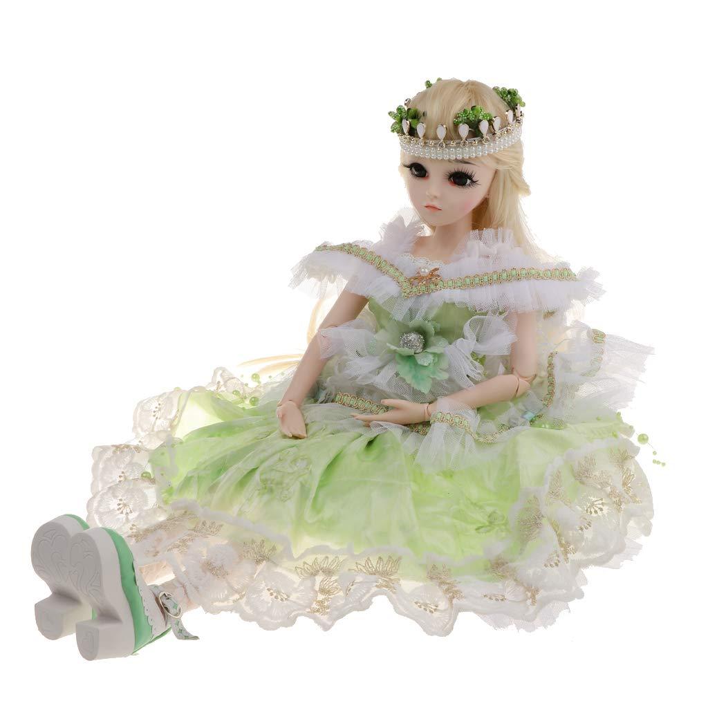 envío gratis F F F Fityle Princesa Muñeca Muchacha Articulada de 60 cm Verde 5  almacén al por mayor