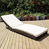 Cheap Outdoor Deluxe Patio Adjustable Wicker Chaise Lounge with Cushions – Folding