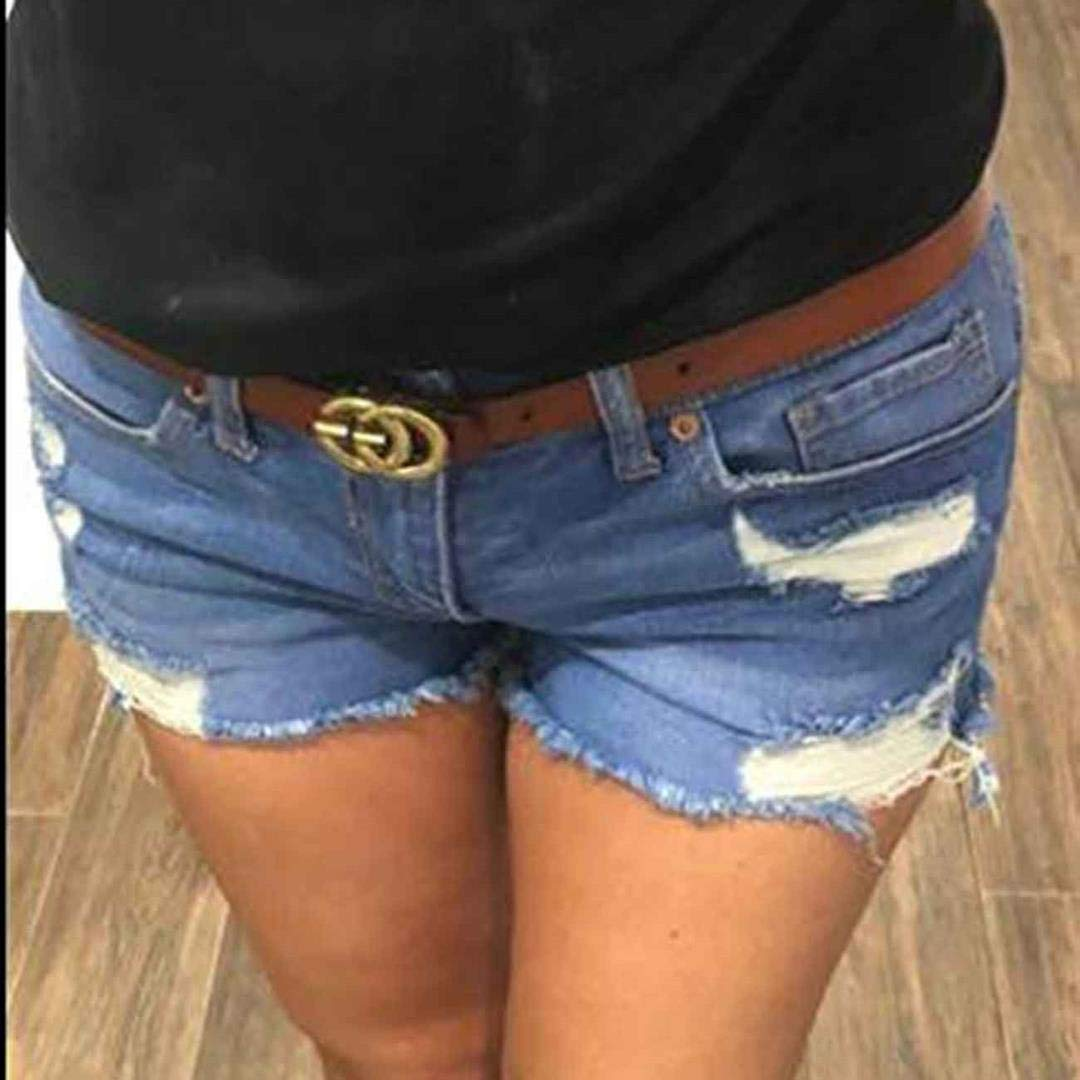 GIOEDEF Women Belts For Jeans With Letter Buckle