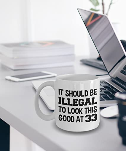 Amazon 33rd Birthday Gift For Her Or Him 33 Mug Coffee