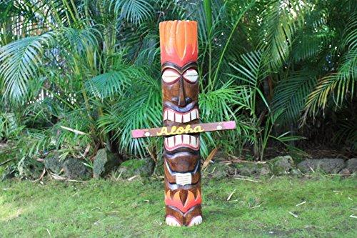 God Of Fire Tiki Totem Pole 40
