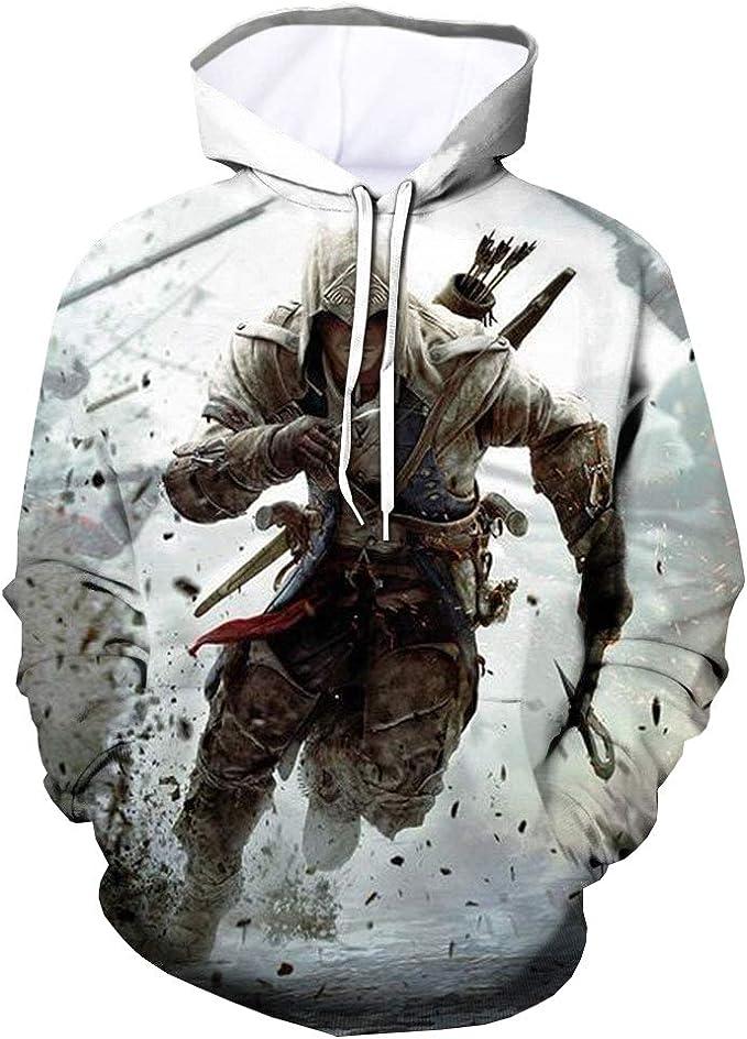 AssassinS Creed Pullover Impresiones Sudaderas Sudaderas Sudaderas con Capucha Sudaderas Estampadas Jersey de Manga Larga
