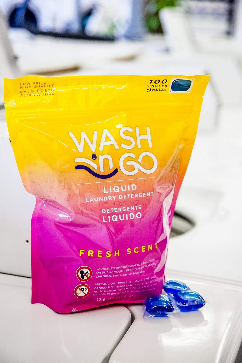 Amazon.com: Wash n Go Liquid Detergent Singles Fresh Scent, 100 Count x 2 (200 Count Total): Health & Personal Care