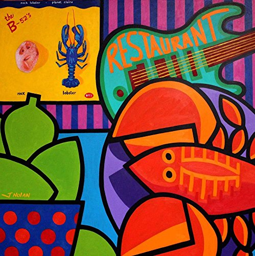 Homage to Rock Lobster by John Nolan Art Print, 18 x 18 -