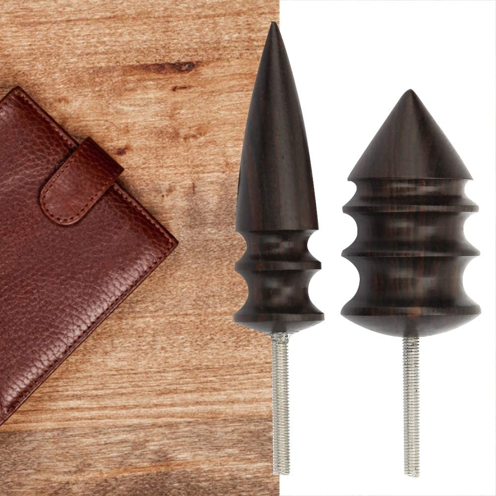 Leather Tool Edge Trimming Electric Sandalwood Polishing Slicker Pointed Head Carving Handmade DIY Leather Working Small+Large