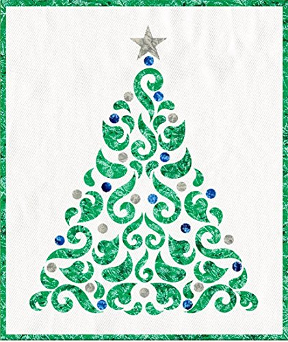 - Blue and Silver Applique Christmas Tree 20