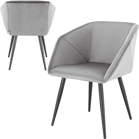 E Starain Dining Room Chairs Set Of 2 Metal Legs Kitchen Chairs Velvet Seat Living Room Chair One Seat Height Of 46 5 Cm Amazon De Kuche Haushalt