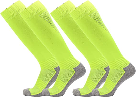 Fitliva Cushioned Sole Cotton Sports Socks Knee High for Tall People Above Knee for others Multi-Colors