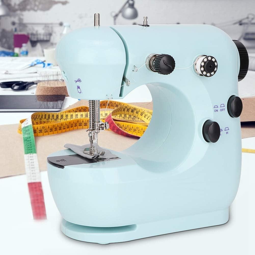 Mini máquina de Coser portátil de Escritorio Máquina de Hilo automático de Doble Velocidad Máquina de Coser eléctrica Mini portátil(EU regulations220V-verde): Amazon.es: Hogar