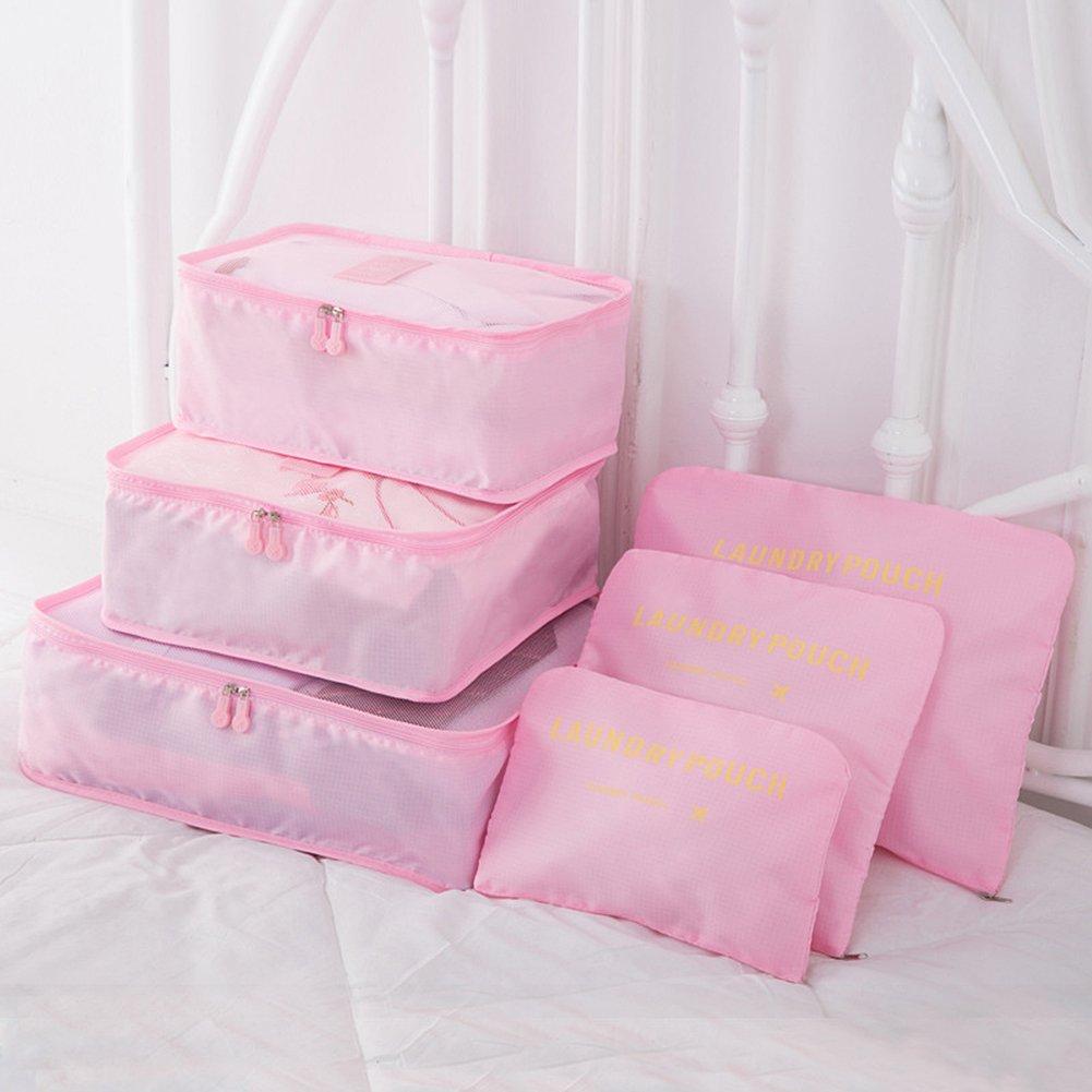 Magik, Organiseur de bagage , rose (rose) - Magik-9pcs Travel Pouches