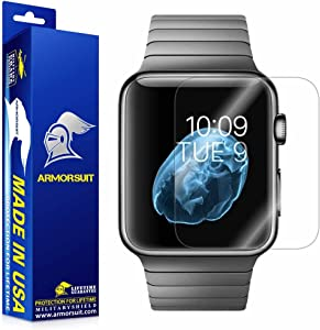 ArmorSuit MilitaryShield 42mm (Series 1) Anti-Bubble Ultra HD Full Coverage Screen Protector for Apple Watch – Clear (2-Pack)