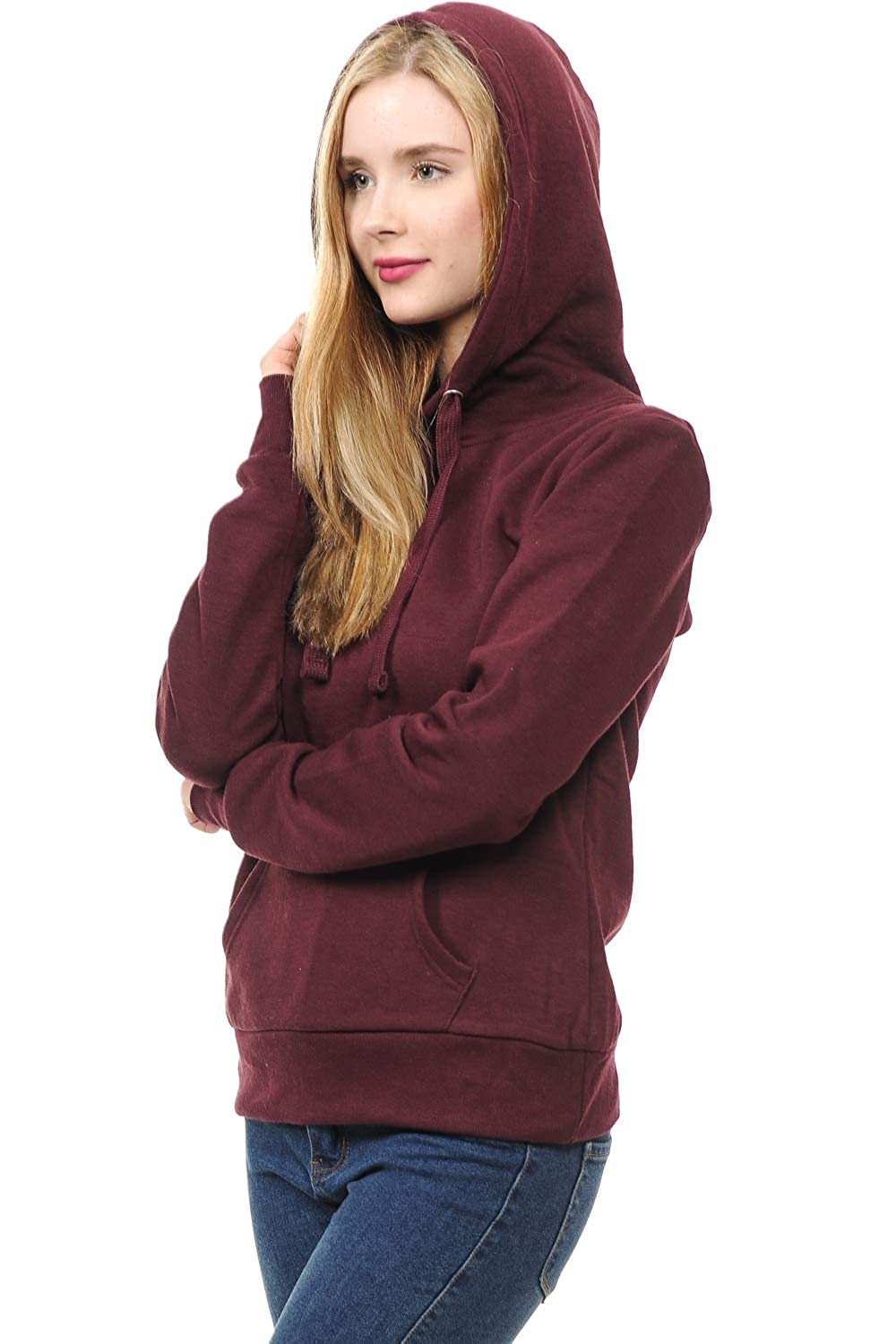 LoveInStyle Womens Basic Pullover Hoodie Fleece Jacket