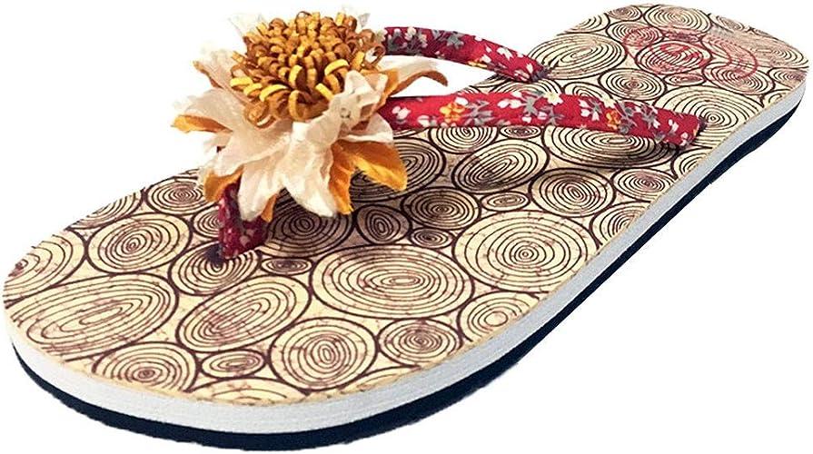 HLIYY Sandales Femmes Plates, Tongs Chaussures Été Nu Pieds