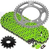 Caltric Green O-Ring Drive Chain & Sprockets Kit Fits HONDA CBR600F2 CBR-600F2 Super Sport 600F2 1991-1994
