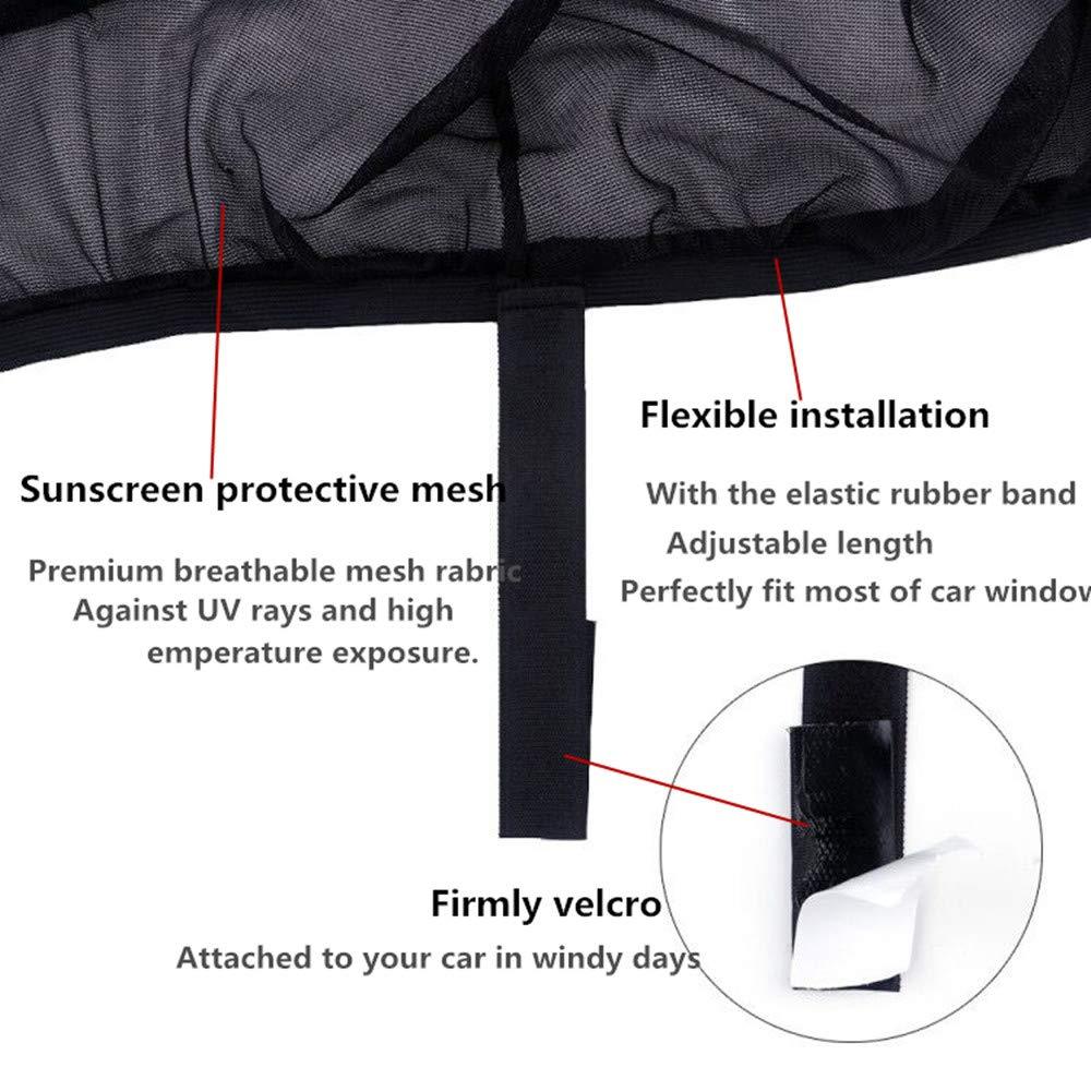2 Pack Car Window Sunshades,Rear Window Sun Shade,Universal Car Rear Side Window Sunshade for Baby Kids and Pets,Fit Most Small /& Medium Cars Fullive Car Sun Shade