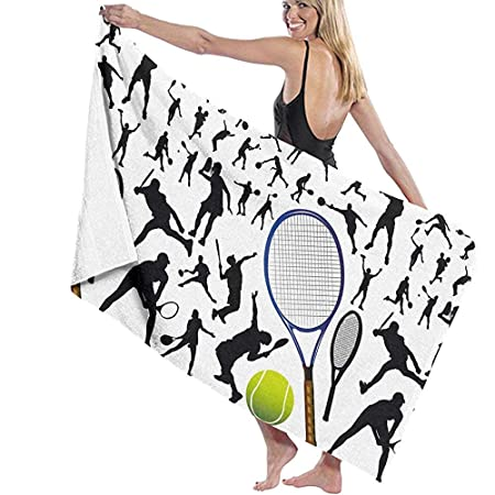 Toallas de baño Tenis y tenista Manta de Playa Toalla de baño ...