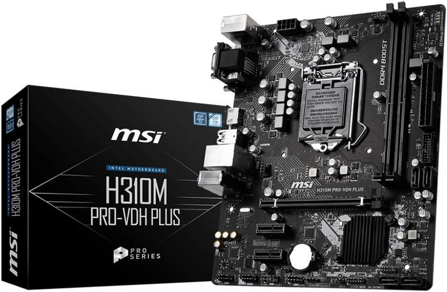 MSI VDH Plus Intel H310 Micro ATX DDR4-SDRAM Motherboard