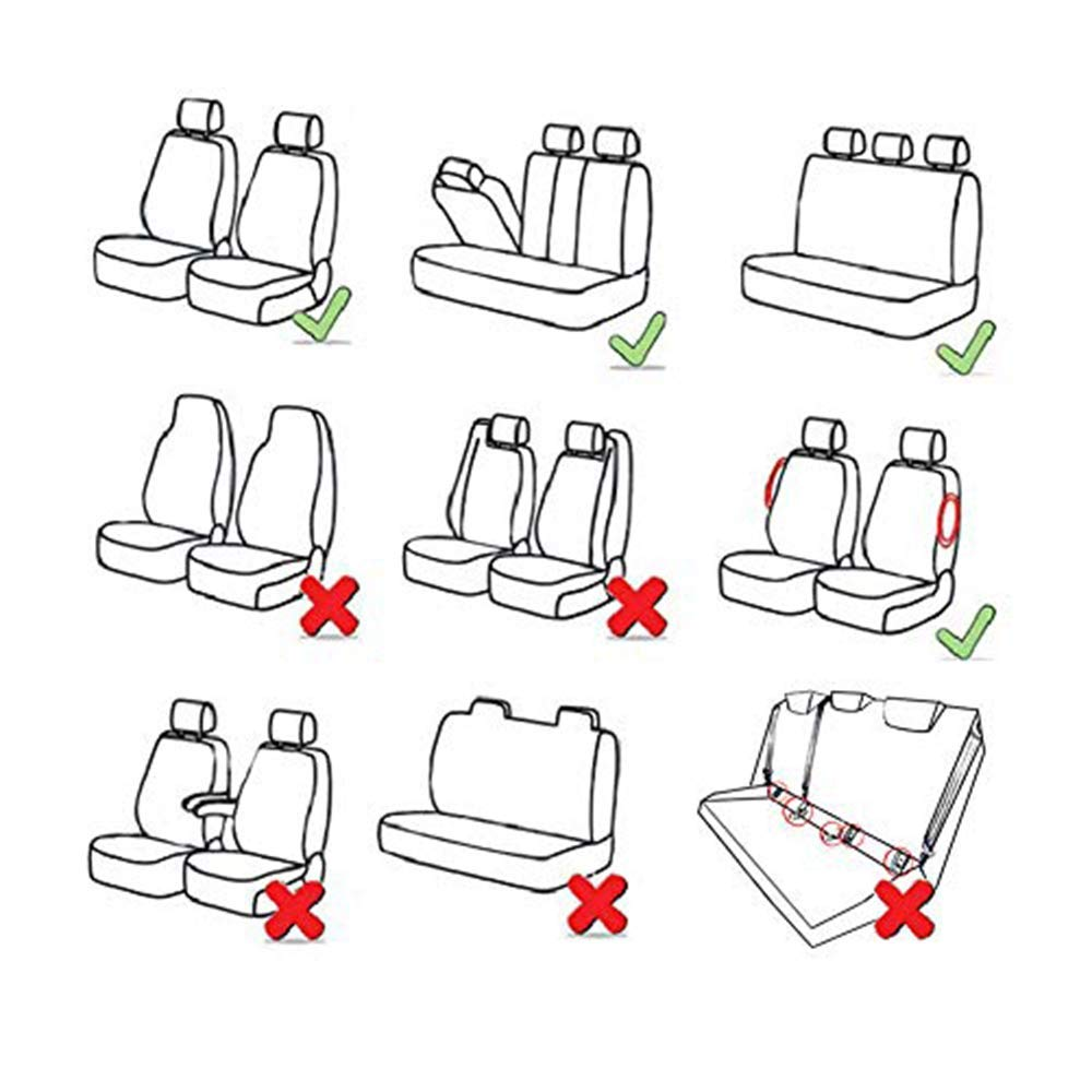 Han sui song Car Seat Cover Universal Auto Protector Case Compatible Airbag Black 9 Pcs for Charger Durango Journey Escape Edge Terrain