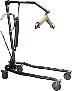 ProHeal Hydraulic Patient Lift - Manual Full Body Lifter for Handicapped, Senior and Immobile Patients - 6 Point Spreader, 450 lbs Capacity