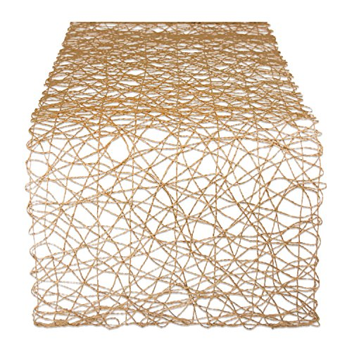 DII Woven Paper Decorative Table Runner for Holidays, Parties, and Everyday Décor (14x72) Taupe]()