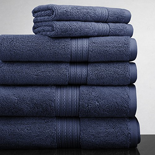 luxor-linens-new-arrival-bliss-collection-egyptian-cotton-classic-6-piece-towel-set-navy