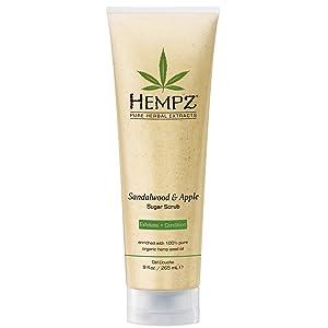 Hempz Herbal Body Scrub, Sandalwood And Apple 9 Ounce