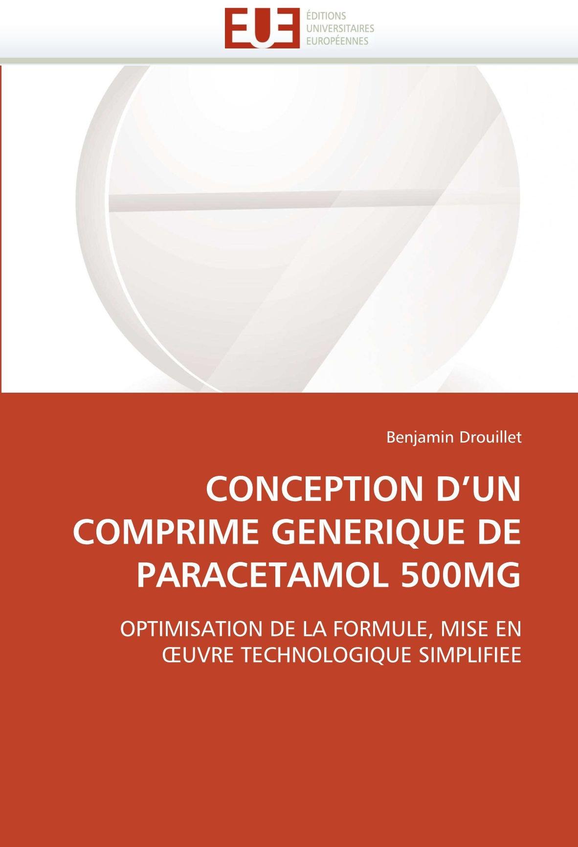 Conception d un comprime generique de paracetamol 500mg OMN.UNIV ...