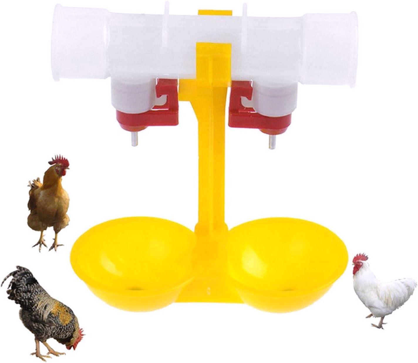 Buvet deau Buveur Buveur Distributeur De Nourriture deau Oiseau De Canard De Poulet Kylewo 5 Pcs Buveur Automatique De Volaille De Poulet
