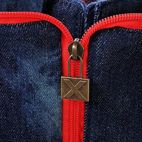 Chang Spent retro bolsa de mensajero de vaquero grande , a a