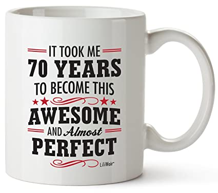 70th Birthday Gifts For Women Seventy Years Old Men Gift Mugs Happy Funny 70 Mens Womens Womans Wifes Female Man Best Friend 1949 Mug Male Unique