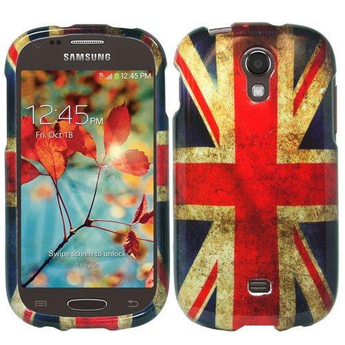Samsung Galaxy Light T399 (T-Mobile) - Premium Bundle Pack - British UK England Vintage Flag Design Shield Case + Atom LED Keychain Light + Micro USB Car Charger