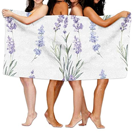 I Like Exercise Toallas de baño de Lujo, diseño de Flores moradas de Lavanda,